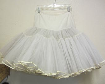 Vintage 1950's Petticoat Slip/Crinoline Tulle Slip/Full Swing Tulle Slip/ Malco Modes Of San Francisco