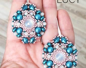 pdf pattern of the Lucy earrings