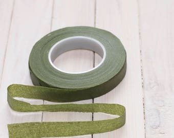 Stretch tape olive-green 1/2 (12.5mm)
