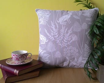 Handmade Large piped Classic Grey Hare Cushion