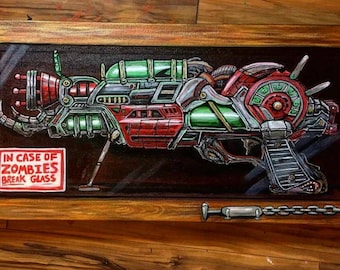 """In Case of Zombies, Break Glass! 18x9"""" Print of Ray Gun MII from Call of Duty Zombies. Printed on 100 pound, high quality paper!"""