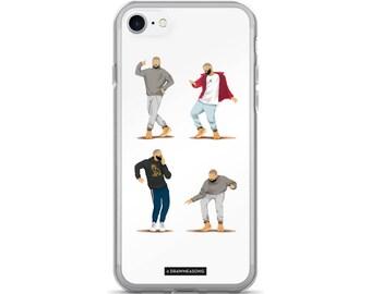 Hotline Bling Drake iPhone 7/7 Plus Case, Dance Tutorial Illustration, Fun Pop Art, Dance Music Funny Drawing, Fan Art (5)
