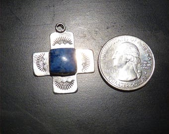Betty Thomas Signed Navajo Sterling Silver Pendant