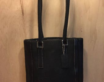 COACH Handbag, Vintage Bags, Authentic Coach, Coach Tote Shopper, Black Coach Tote Bag, Coach Handbag, Coach Purse, Coach Satchel, Pristine