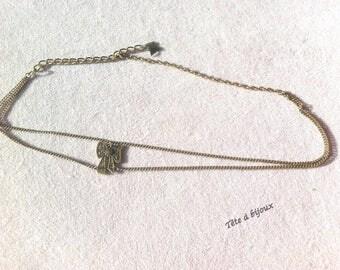 Head jewel headband Bronze bow