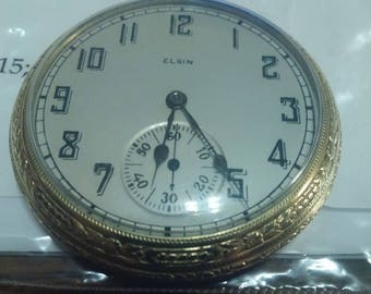 1923 Elgin pocket watch, size 12
