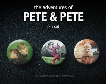 The Adventures of Pete & Pete  3-piece Pinback Button Set