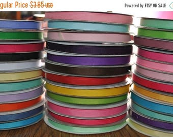 "ON SALE 33 yards- 3/8 "" GROSGRAIN Ribbon  solid"
