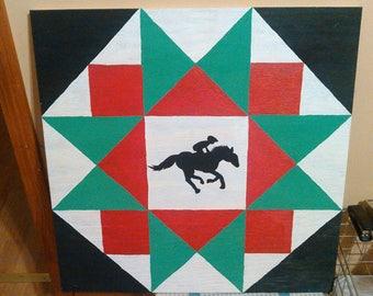 Horse rider barn quilt