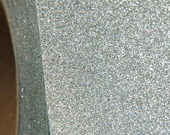 "Glitter Silver 20"" Heat Transfer Vinyl Film By The Yard"