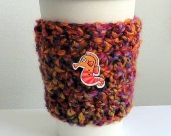 Coffee Cup Sleeve Cozy Take Out Coffee Cup Sleeve Cozy Crocheted Coffee Cup Sleeve Cozy