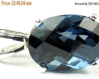 On Sale, 30% Off, London Blue Topaz, 925 Sterling Silver Pendant, SP006