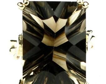 On Sale, 30% Off, Smoky Quartz, 14KY Gold Ring R039