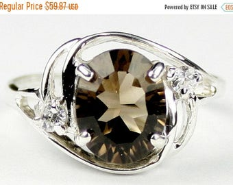 On Sale, 30% Off, Smoky Quartz, 925 Sterling Silver Ladies Ring, SR021