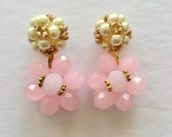 Earring.  Aros.  Crystal earring.  Aros en cristal. Handmade earring. Wedding. Bridal. Elegant, Businesswomen, Trendy