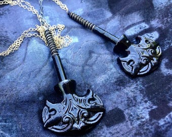Victorian Coffin Screw Necklace
