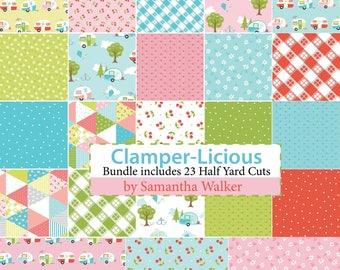 Glamper-Licious Half Yard Bundle by Samantha Walker for Riley Blake Designs