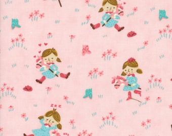 Howdy Pink A Gal's Best Friend Yardage SKU# 20551-18 by Stacy Iest Hsu for Moda Fabrics