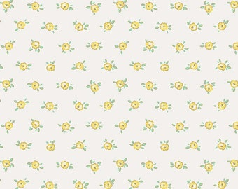 Little Dolly Yellow Rose SKU: C6366-YELLOW by Elea Lutz for Penny Rose Fabrics