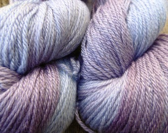 MERINO wool TENCEL, hand dyed DK / 4 ply. soft silky yarn 100 gms, 200 available,  Mollycoddle Yarns, Indie dyer