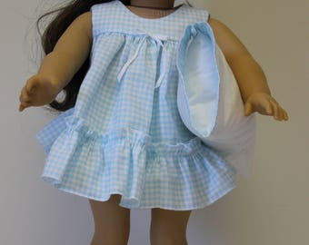 American Girl doll or other 18 inch Doll Shortie Pajamas Set