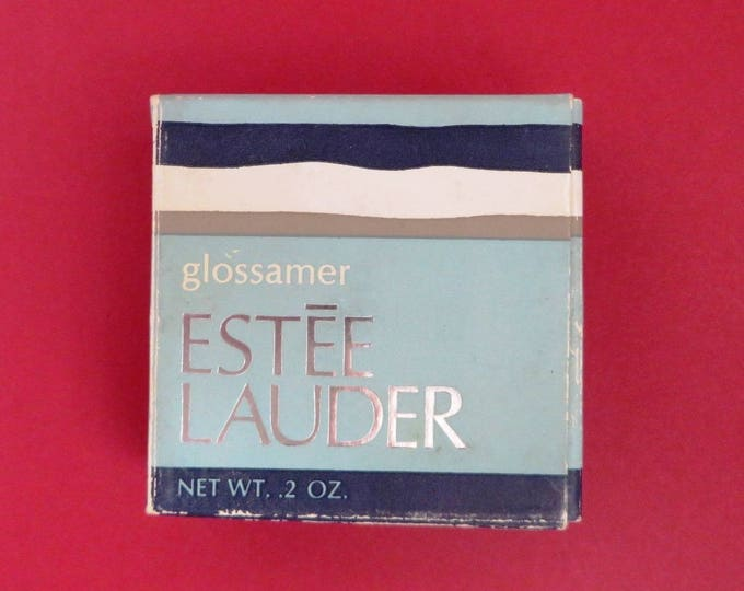 Vintage Estee Lauder Lip Gloss - Glossamer Poppy Lipstick Gloss, New Old Stock