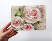 "Little Floral Oil Painting Art 5x7"" on Canvas"