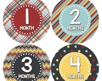 Monthly Baby Milestone Stickers Baby Boy Baby Shower Gift One-Piece Baby Stickers Monthly Baby Stickers Baby Month Sticker 415