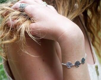 "Tree of life bracelet ""Three Trees"" in Silver 925/1000."