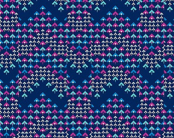 Pre-order: Prismatic in Navy by Amy Butler from the Soul Mate collection for Free Spirit #CPAB005.8Navy by 1/2 yard