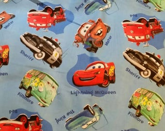 Disney Pixar CARS fabric 5847 Blue by the yard