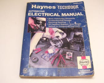 1989 Haynes Techbook Automotive Electrical Manual 10420 (1654) Repair