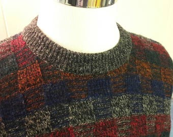 Vintage 80s Wool Sweater - Great Condition - Brand: Sabre - Made in England - Multicolor - Winter Wear - 1980's Clothes Clothing -