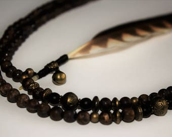 Bell - Bronzite beads necklace
