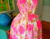 PRIVATE LISTING Special Order for  Customer (Madelyn) Pink Floral  Garden Party Tea Dress