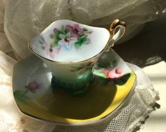 Vintage Occupied Japan Tea Cup Set  Beautiful Tea Cup Set  Hand Painted