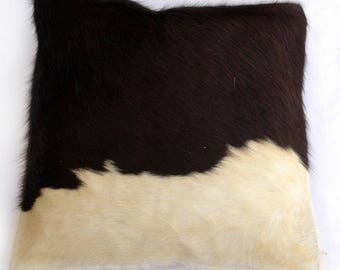 Natural Cowhide Luxurious Hair On Cushion/ Pillow Cover (15''x 15'') A33
