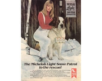 Vintage 1980 magazine poster advertisement for Michelob beer  --218