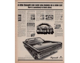 Vintage poster advertisement of a 1970 Plymouth  Fury - 9