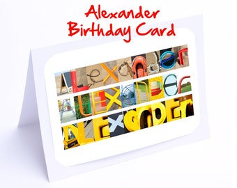 Alexander Personalised Birthday Cards