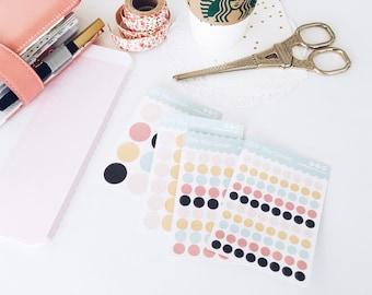 Circle Stickers, Functional Planner, Dot Stickers, Kiss Cut Sticker Sheet, Planning Sticker, Personal Planner, Custom Stickers for planners
