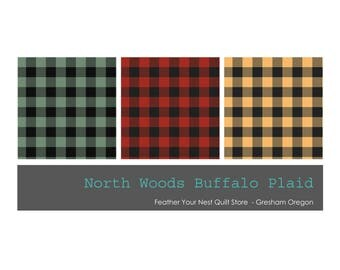 Plaid Fabric, Buffalo Plaid -  North Woods by Cynthie Fisher for Quilting Treasures - 26263 - Priced by the Half Yard