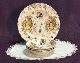 Johnson Brothers Autun's Delight 3 Berry Dessert Bowls 1 Salad Plate