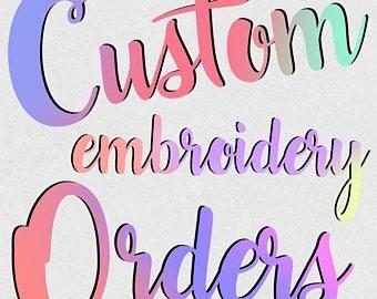 Add custom embroidery