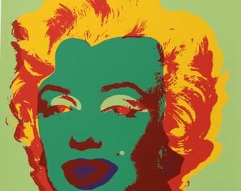 ANDY WARHOL - 'Marilyn' - stunning original screenprint - c1990s - very large (Sunday b Morning. Pop Art)