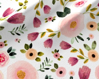 Pink Floral Quilting Fabric by the Yard Floral Baby Girl : floral quilting fabric - Adamdwight.com