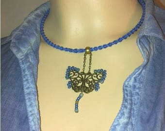 THE BLUE LAGOON BUTTERFLY CHOKER NECKLACE