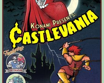 Retro Castlevania Poster