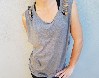 Sleeveless Side-Cut Workout Shirt