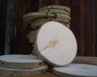 "Set 50 2""-3"" rustic wood slices Tree Slice decoration Rustic wedding Round wooden discs"